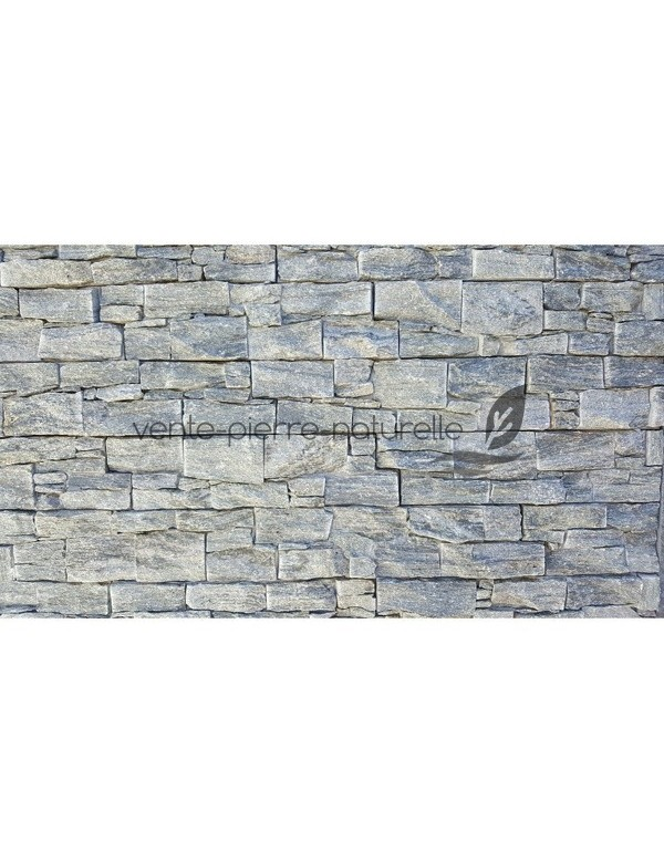 Plaquette de parement panel en quartz gris pierre naturelle Pierre parement gris